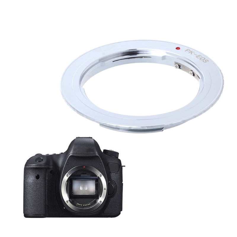 OOTDTY PK-EOS Lens Mount Adapter Ring for Pentax Phoenix PK Lens to Canon EF EOS Camera fotga pk eosm pentax pk lens to canon m mount adapter black silver