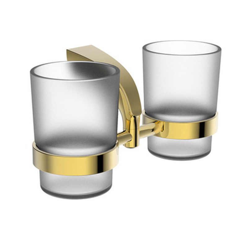 Polerowany złoty Zestawy łazienkowe 5 sztuk Okrągły wieszak na ręcznik ścienny łazienka zestaw akcesoria Soild mosiądz uchwyt na szczoteczkę do zębów dozownik mydła w płynie