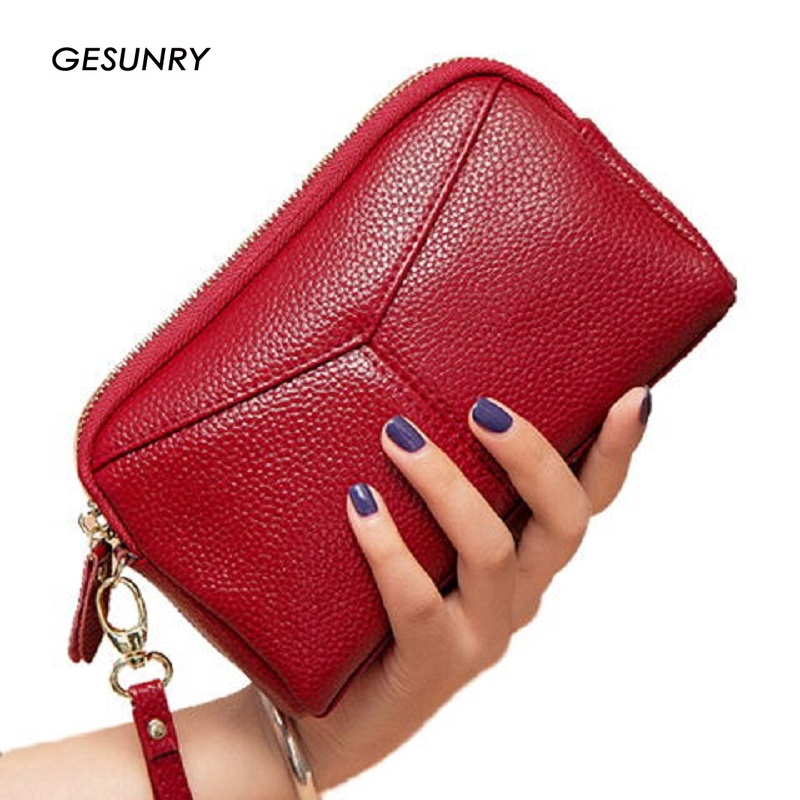 New Genuine Leather women wallet Female Bag  Clutches Bag Large Capacity Cowhide Wallet Phone Bag Fashion Female purse yuanyu 2018 new hot free shipping python leather women purse female long women clutches women wallet more screens women wallet