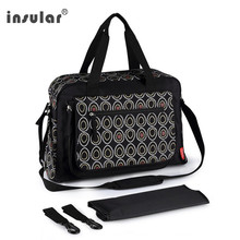 diaper bags black Dot pattern mommy handbag waterproof Large capacity maternity nursing bag baby care nappy bags stroller bags 2016 free shipping deluxe baby diaper bags fashion nappy bags large capacity mommy bags stroller bags