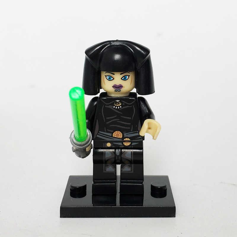 Nuovo Starwars Jedi Knight Darth Maul Vader Conte Dooku Ahsoka Tano Luminara Figure Compatibile Legoe Blocco Del Capretto Giocattoli di Natale