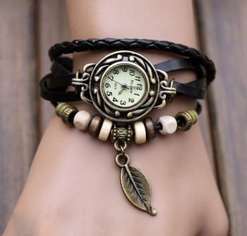 Montres rétro avec Bracelet cuir à Quartz Montres Bella Risse https://bellarissecoiffure.ch