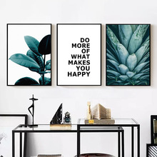 Nordic Minimalist Green Plant Art Canvas Painting Prints Posters Wall Pictures For Living Room Modern Home Decoration BL41