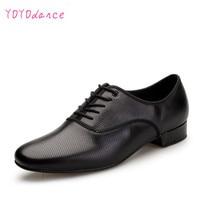 Leather Dance Shoes Men Sneakers Black Latin Ballroom Shoes Flat Heel Dance Shoes for Men Heel Plug Size Ballroom Men Shoes