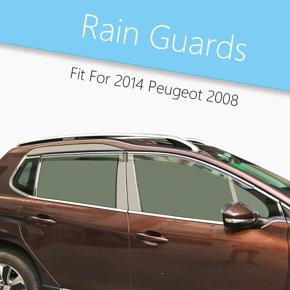 Car visor sticker designs - Car Styling Wind Deflector Visor Rain Sun Protector Vent Window Exterior Trim Car Protection Accessories For