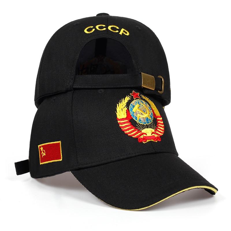 high quality CCCP national emblem Baseball Cap 100%Cotton snapback caps Adjustable Sun Hat Outdoor Visor Hats|Men