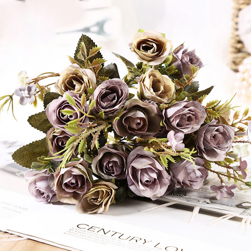 3 5 cm 10 flower head rose Autumn fake flowers bud silk flower artificial flower for wedding diy Party decoration home decor in Artificial Dried Flowers from Home Garden