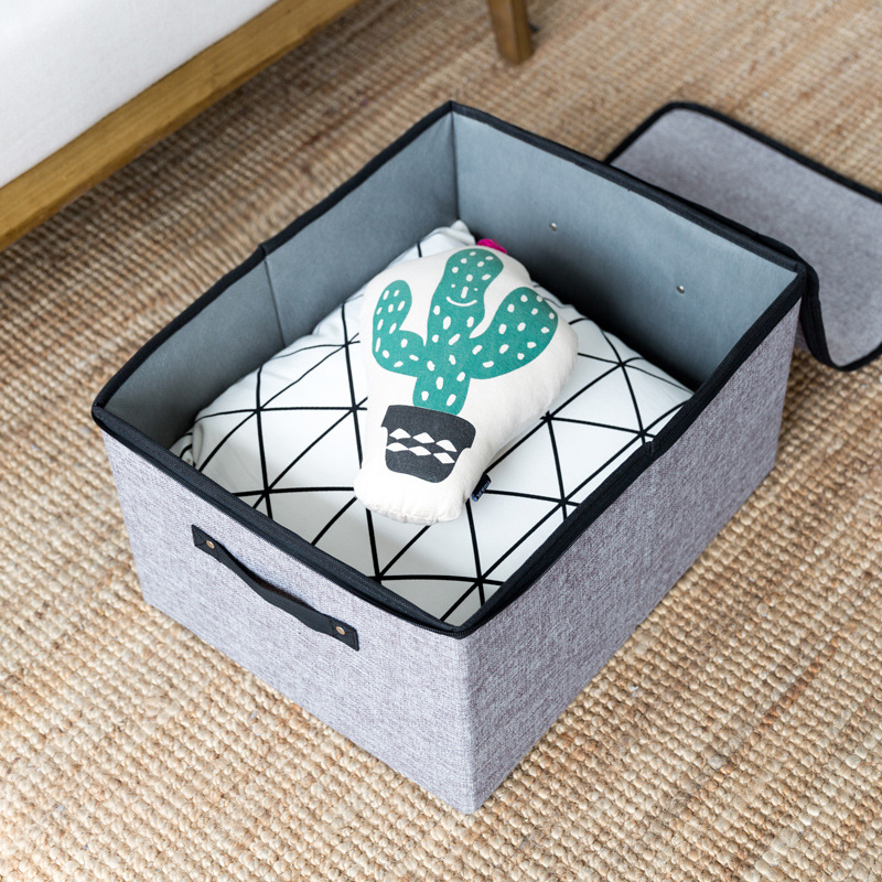 Stackable and Foldable Clothes Drawer Organizer and Cotton Clothes Storage Box with Zipper and Divider 3