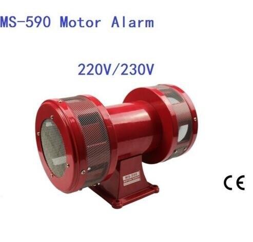 AC230V 160db Motor Driven Air Raid Siren Métal Corne L'industrie Bateau D'alarme MS-590