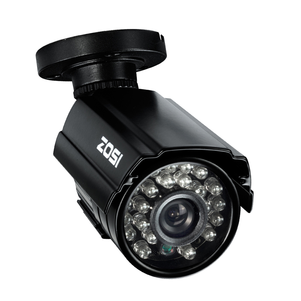 "ZOSI HD 720P TVI Camera 1/3"" Color HD CMOS 1280TVL IR Cut 24pcs IR Night Vision Outdoor/Indoor Bullet Security CCTV Camera"