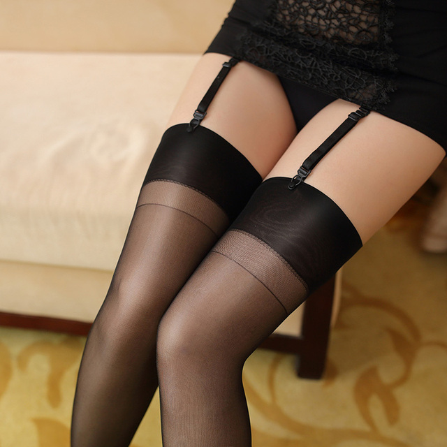 Hotfit Outlet Oil Shine Thigh High Stockings Womens -5768