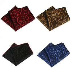 KR093 продажи Для мужчин полиэстер шелк нагрудные платки цветочный точки жаккардовые платки для Ascot Галстуки Галстук Свадебная вечеринка