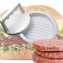 1 компл. Круглой формы гамбургер пищевой пластик мясо говядины гриль пресс форма для кухни инструмент