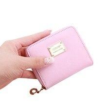 ISHOWTIENDA маленький кошелек из искусственной кожи для женщин Мини женские кошельки женские короткие портмоне на молнии Держатель для кредитных карт# BL4