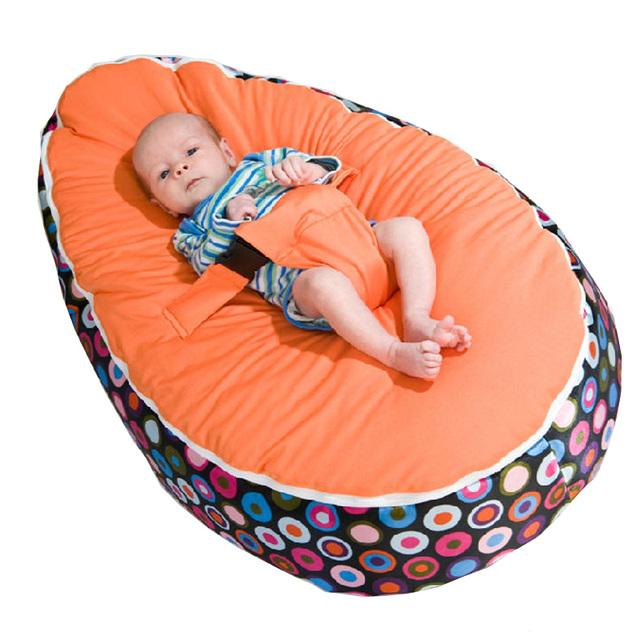 Por atacado Do Bebê do Saco de Feijão sem enchimento/para Crianças Cadeira Do Sofá/Snuggle Cama macia/assentos Do Bebê misturar cores ordem 60 pçs/lote