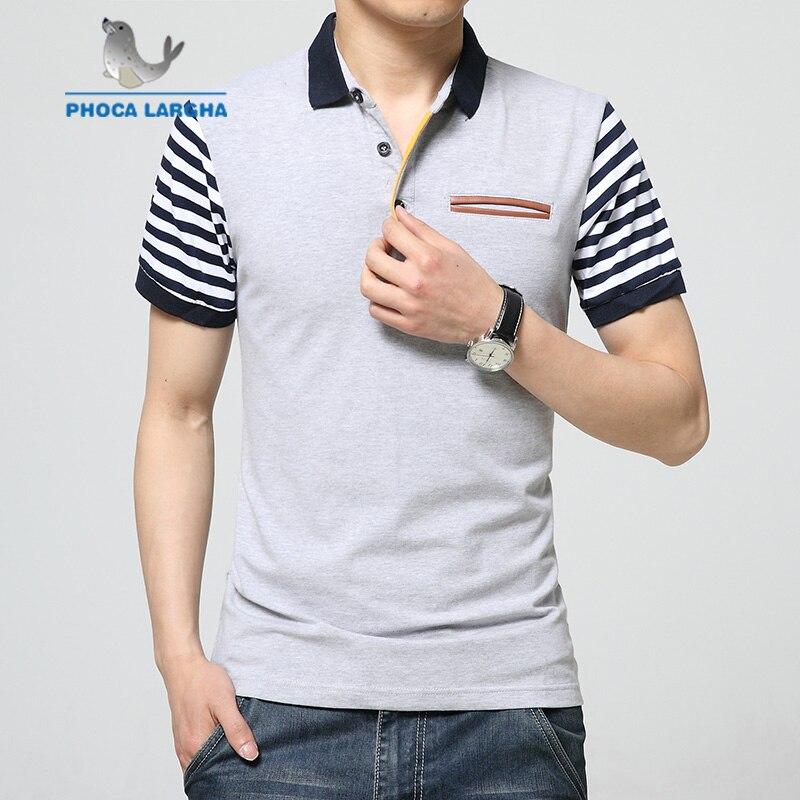 Neue Sommer Herren Kurzarm Polo Shirts Männer Slim Fit Striped Baumwolle Polo Camisa Homme Gefälschte Tasche Trend Casual Polo Hemd 5xl Komplette Artikelauswahl Babykleidung Mädchen