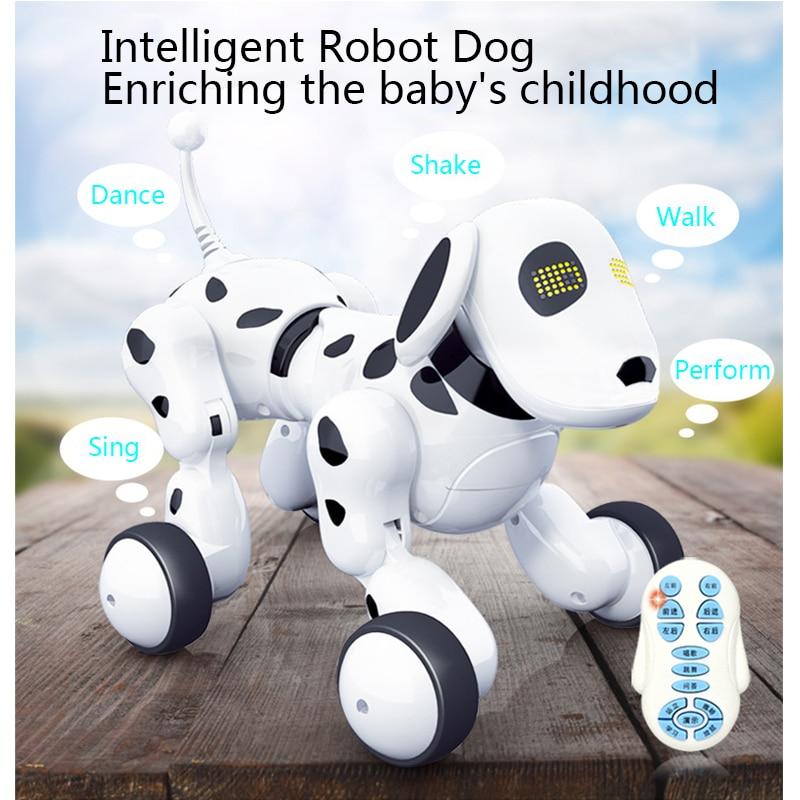Sans fil Télécommande Robot Intelligent Chien Enfants RC Jouets Intelligents Parler Robot Chien Électronique des Animaux Virtuels Enfants Jouet Cadeau
