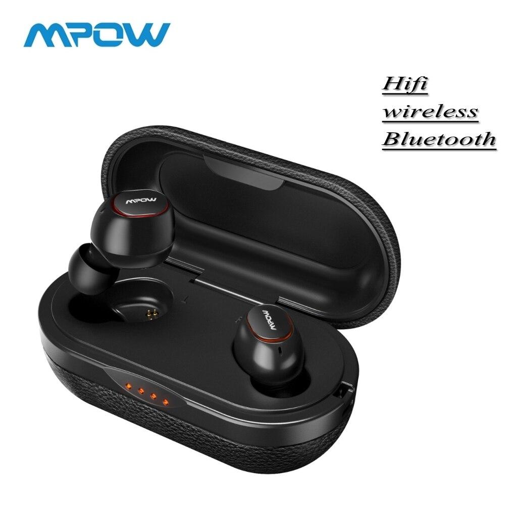Original Mpow T5/M5 IPX7 36H Jogando 3D TWS APTX Fones 5.0 Fones De Ouvido Sem Fio Estéreo Com Cancelamento de Ruído Fones De Ouvido fone de ouvido com Microfone