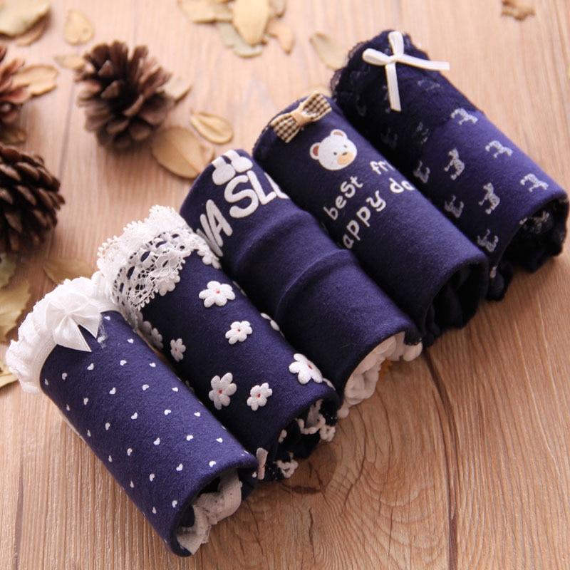 Novo chegou 4 pçs/lote menina calcinha cuecas de renda algodão lingerie macio confortável bowknot dos desenhos animados calcinha Wholesale5-6