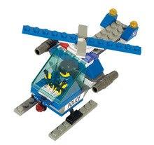 S Modelo Compatível com Lego B0117 69 Pcs Helicóptero Da Polícia Modelos de Kits de Construção de Blocos Brinquedos Passatempo Passatempos Para Meninos Das Meninas