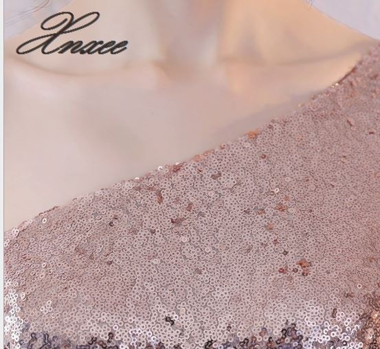 2019 ladies sexy off the shoulder halter banquet sequin dress in Dresses from Women 39 s Clothing