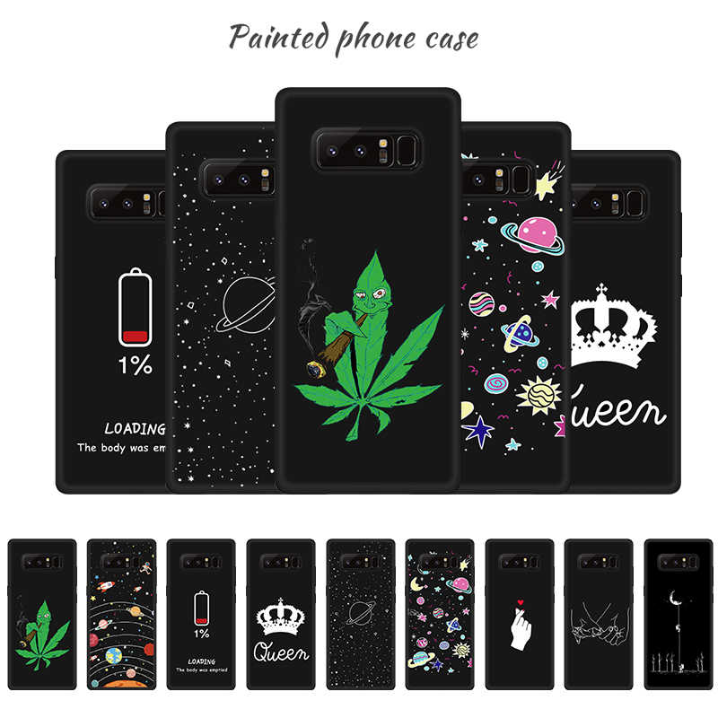 Soft Cover Cute Couple Cases For Samsung Galaxy A5 A7 2017 Note 9 8 S9 S8 J6 A6 A8 Plus J3 J4 2018 Cute Print Pattern Phone Case