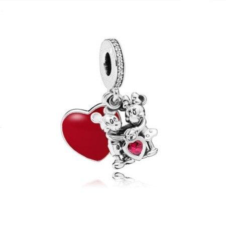 Новинка,,, бусинка из ленты, Микки Маус, сказка, Дамбо, любовь, шарм, подходит для Пандоры, браслет, ожерелье, сделай сам, женское ювелирное изделие, подарок - Цвет: P015