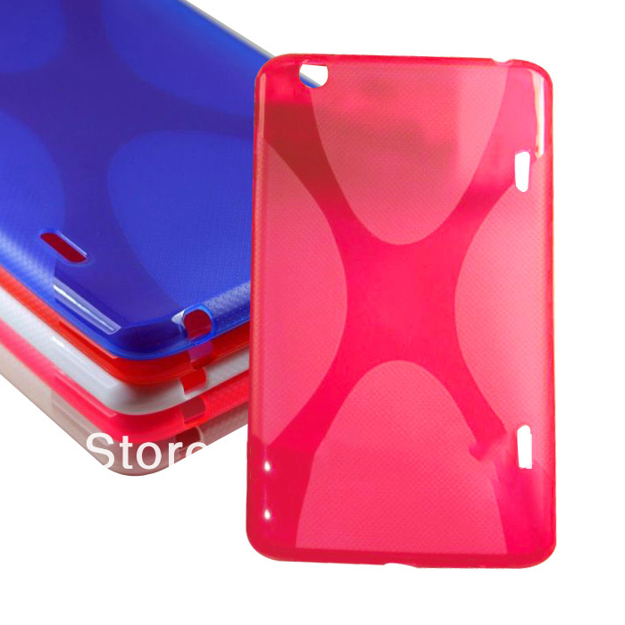 Quality X Line Design Soft TPU Case Skin Shell Cover Silicon Case Gel Protective For LG G Pad 8.3 V500 Case Anti Slip Anti Skid embossed tpu gel shell for ipod touch 5 6 girl in red dress
