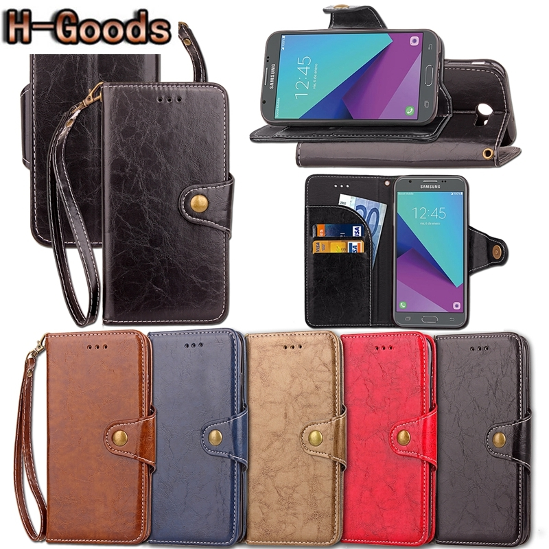 Galleria fotografica H-Goods ICASSBY Etui For Samsung Galaxy J3 Emerge 2017 Case Luxury PU Leather Phone Bag Covers For Coque Samsung Galaxy J3 2017