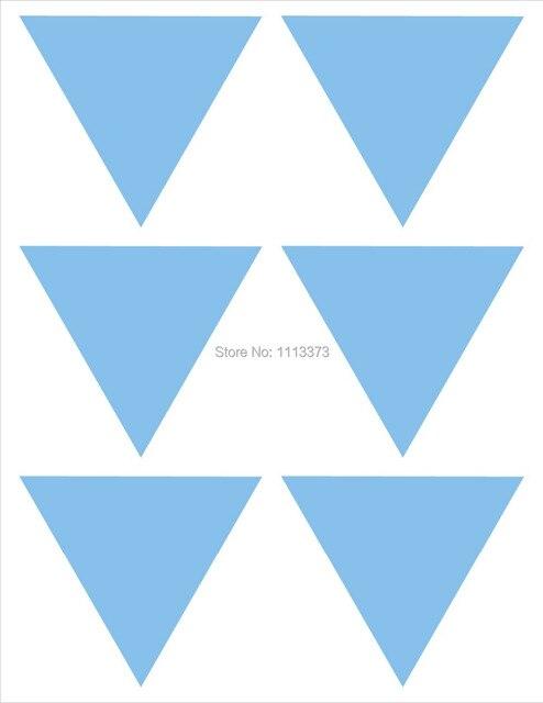 3,8x3,3 Cm Hellblau Dreieck Aufkleber Einladung Dichtung Hochzeit Aufkleber