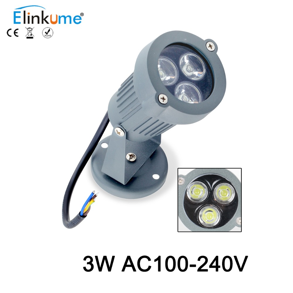 Elinkume LED FloodLights 3w projektionslampe High Power LED Flood Light Outdoor IP65 støbt lys kølig hvid varm hvid