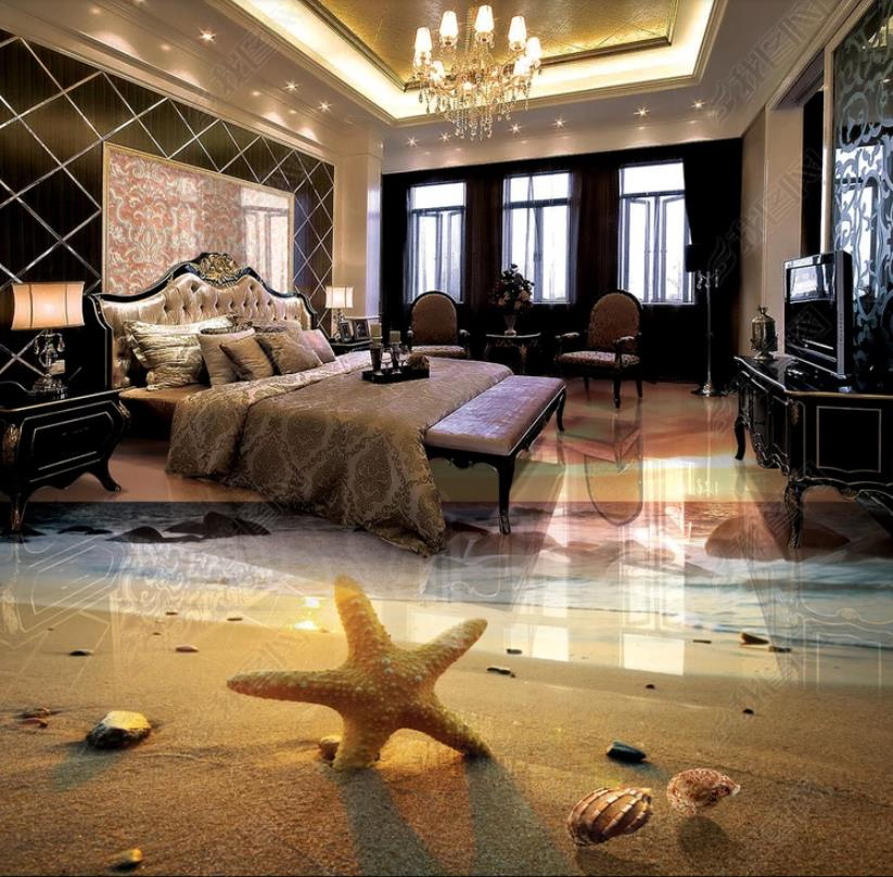 Custom Papel De Parede 3d Floor Wallpaper Sunset Beach Wallpapers For Living Room Bedroom