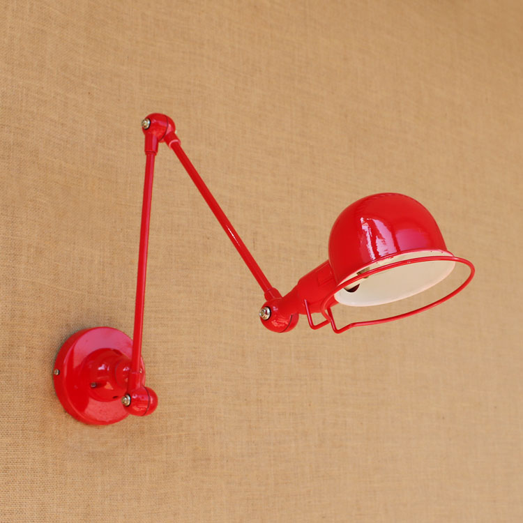 Red Country Loft Style Wall Lamp Creative Adjustable Wall Sconce Bedside Light Fixtures For Home Lighting Indoor Bar Cafe modern lamp trophy wall lamp wall lamp bed lighting bedside wall lamp
