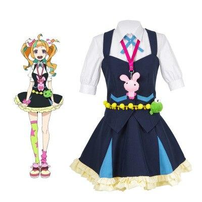 High Quallity Japanese Anime Kiznaiver NIYAMA NICO Man Woman Cosplay Costume Shirt + Vest + Dress + Scoks + Accessory