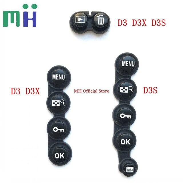 ニコン D3 D3S D3X 裏表紙ボタンカバーメニューボタン削除再生ボタンズーム +/ カメラ修理スペアパーツユニット