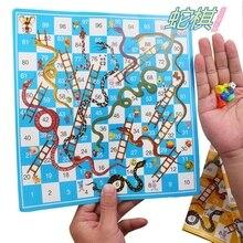 Настольная игра змея лестница полет шахматы Развивающие детские игрушки родитель-ребенок интерактивные семейные вечерние игры змеи лестницы игрушки подарки