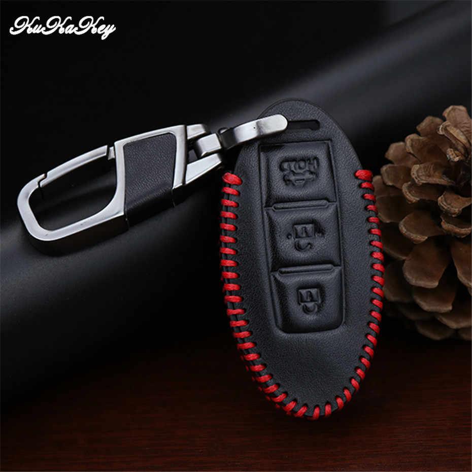 Cuero coche caso clave cubierta llavero para Nissan Tidda Livida X-Trail T31 T32 Qashqai DE MARZO DE Juke 2016 clave shell protector cartera