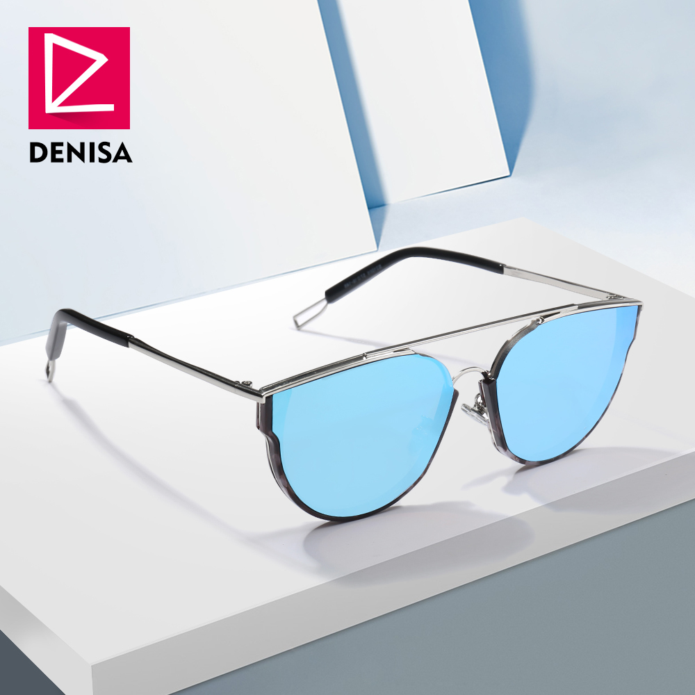 DENISA New Aviation Mirror Sunglasses Men 2019 Trendy Retro Sun Glasses Women Driver Shades UV400 Piloot Zonnebril Mannen G31066