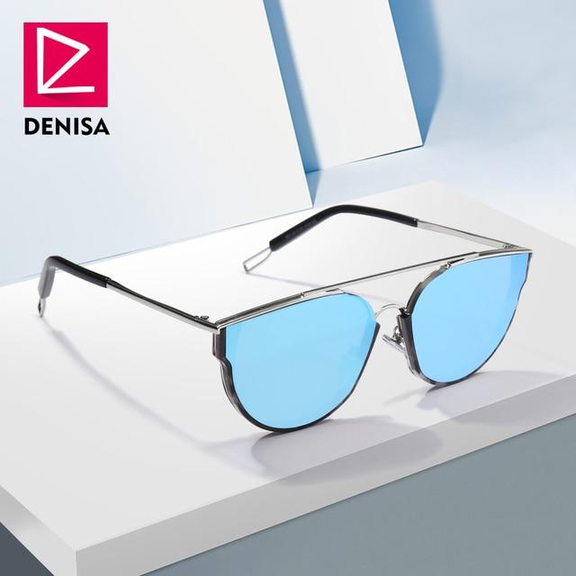 bb75c4e579 DENISA New Aviation Mirror Sunglasses Men 2018 Trendy Retro Sun Glasses  Women Driver Shades UV400 piloot