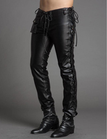 29 37 Men S Clothing Adjust Personality Leather Pants Slim Genuine Leather Pants Cowhide Plus Size