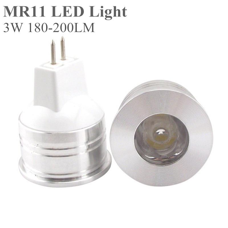 5X MR11 LED Glühbirne 3 Watt 12 V 35mm Durchmesser Helle Mini...