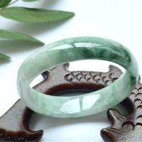 Natural Myanmar female authentic Imperial Concubine bracelet floating flowers full of green ice waxy jade bracelet