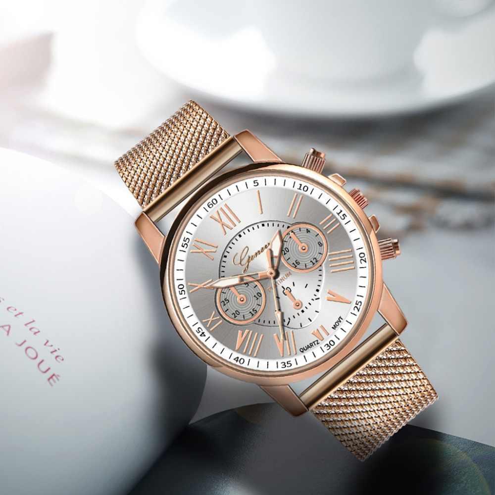 Luxus Frauen Quarz Uhren Frauen Uhren frauen Quarz Sport Military Edelstahl Zifferblatt Legierung Band Armbanduhr 2019 #30
