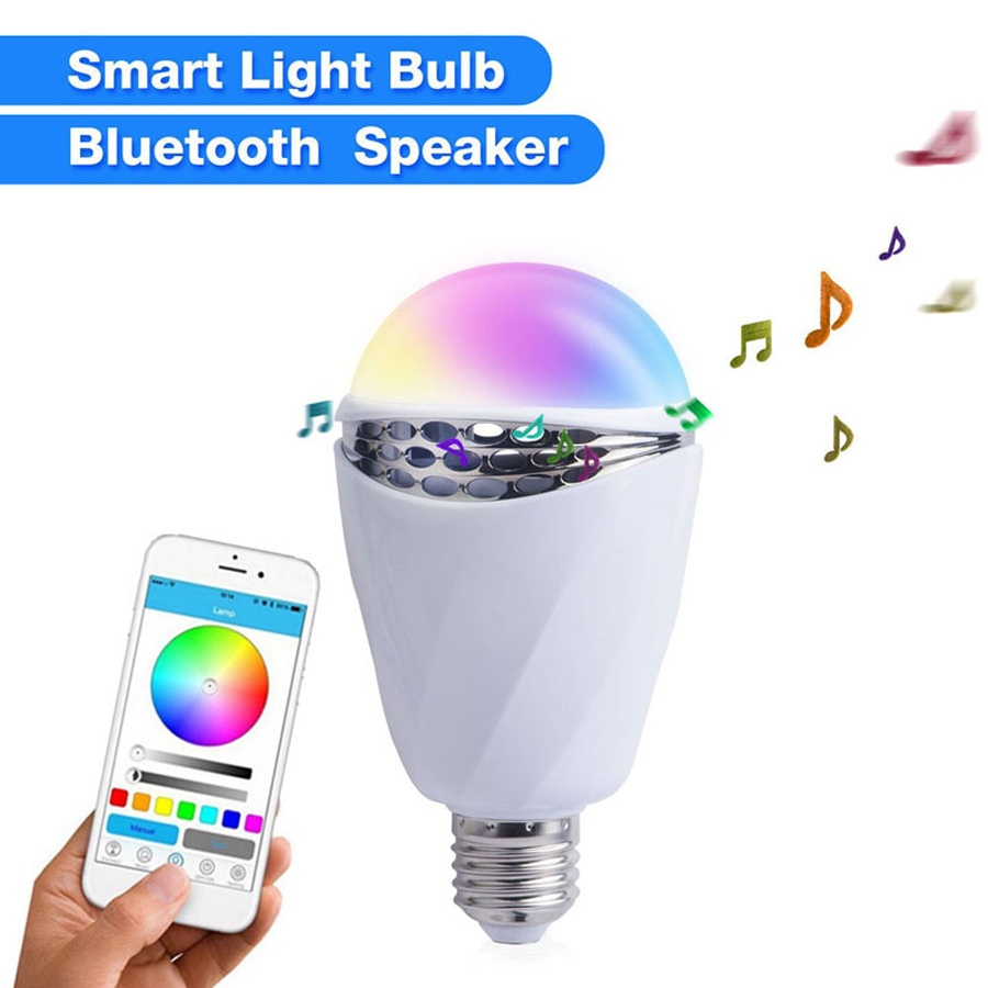 APP Bluetooth Smart Light Bulb Box Speaker Colour Change Intelligent Sound Colorful Light Bulbs For Android Iphone Ios