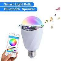 APP Bluetooth Smart Light Bulb Box Speaker 7 Colour Change Intelligent Sound Colorful Light Bulbs For