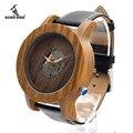 BOBO PÁSSARO K09 Sândalo Verde Homens Relógio Movimento De Quartzo-relógio 47.5mm Tamanho relógio de Pulso na Caixa de Presente De Madeira Exposta