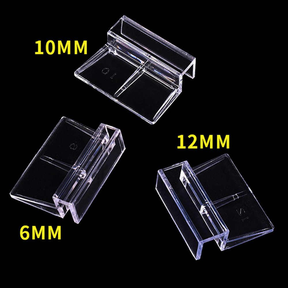 4 pçs cor clara acrílico tampa do aquário clips grampos de vidro capa suporte suportes tanque de peixes suprimentos