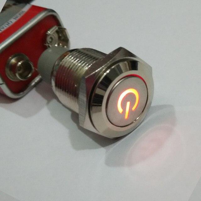 16mm Metall Elektrische Auto Schalter mit 12 V Rot Symbol LED Auto ...
