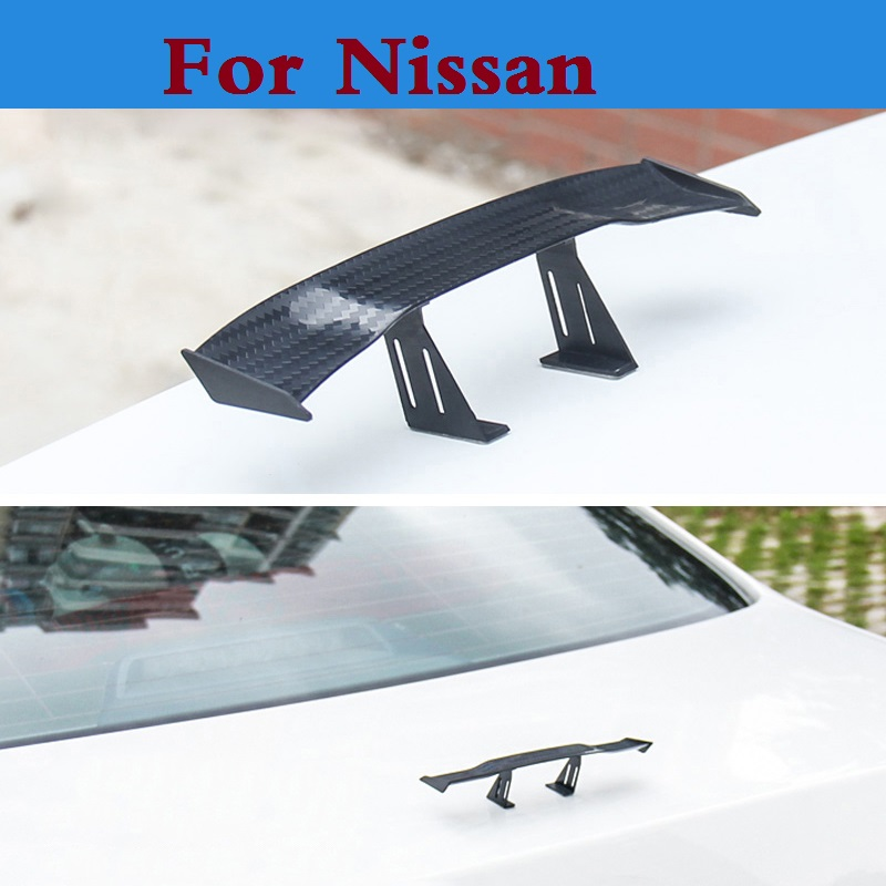 2017 New Car styling auto spoiler mini rear wing sticker for Nissan Qashqai Rogue Safari Sentra Skyline Crossover Stagea Sunny