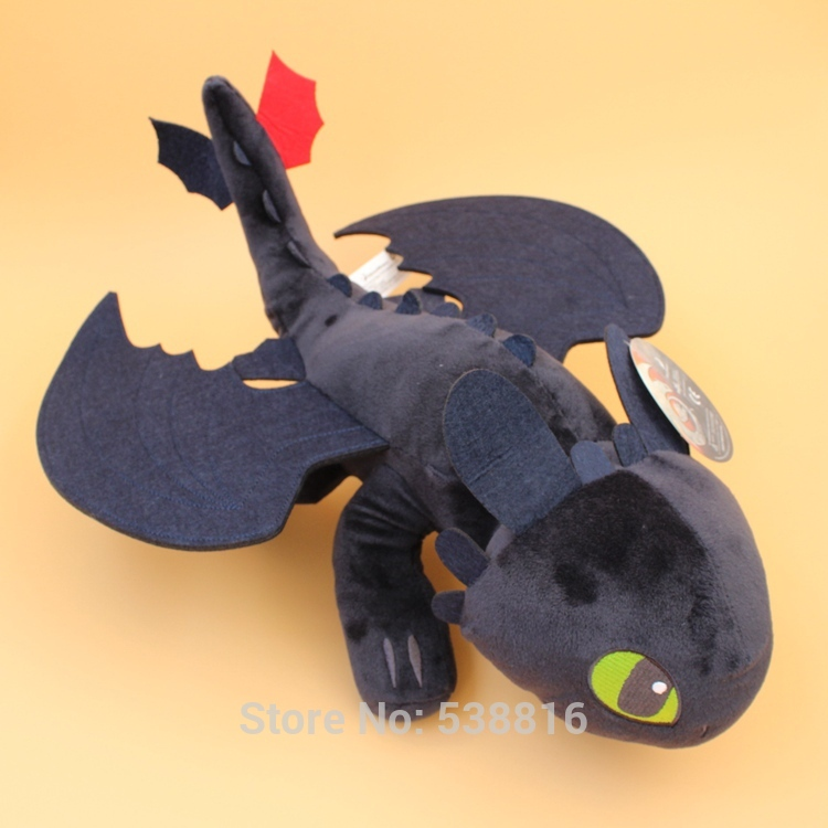 1744CM How to Train Your Dragon 2 Plush Toy Night Fury Toothless Dragon Soft Plush Doll Toys Collection Gift